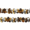 Bow Beads (Farfalle) 3.2x6.5mm Topaz Labrador Transparent